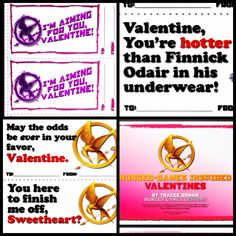 Free Hunger Games Valentines! Download here: http://www.teacherspayteachers.com/Product/Hunger-Games-Valentine-Cards-Free-Printables-179115
