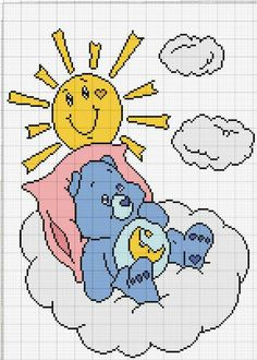Cross Stitching, Cross Stitch Embroidery, Cross Stitch Patterns, Cross Stitch For Kids, Cross Stitch Rose, Care Bears, Baby Mickey Mouse, Stitch Cartoon, C2c