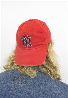 ef9ae601d80 90 s New York Yankees Baseball Cap Vintage Baseball Caps
