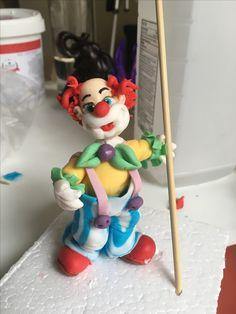 Clown cake topper Sugar paste figurine