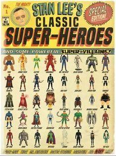 NYCC 2015 Stan Lee's Classic Super Heroes Poster Giclee Print Art 18x24 Mondo | eBay Marvel Comics, Marvel Comic Universe, Comics Universe, Marvel Vs, Marvel Heroes, Marvel Characters, Stan Lee, Gi Joe, Mundo Superman