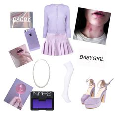 """""""Untitled #50"""" by lindsey-ritchie ❤ liked on Polyvore featuring L.K.Bennett, NARS Cosmetics and Majorica"""