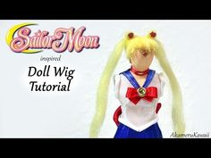 "How to: Doll Wig; ""Sailor Moon"" inspired Tutorial - YouTube"