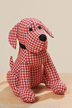 Adorable gingham check door stopper