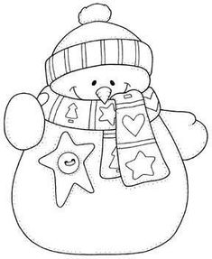 snowman hand embroidery pattern - would be cute on a Christmas card. Applique Patterns, Embroidery Applique, Cross Stitch Embroidery, Embroidery Designs, Quilt Pattern, Christmas Colors, Christmas Crafts, Noel Christmas, Christmas Templates
