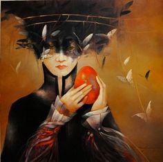 Anne Bachelier (French Surrealist /Visionary painter , b. Medical Illustration, Illustration Artists, Excited Pictures, Cosmic Egg, Medieval World, Abstract Painters, Pop Surrealism, Contemporary Artwork, City Art