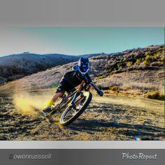 Dorin on his DH bike Norco Aurum