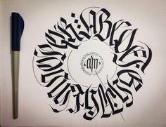 Alfabeto Fraktur maiuscolo circolare A...R © 2014 alberto manzella. Tutti i diritti riservati. www.albertomanzella.it #albertomanzella #albertomanzellafoto #calligrafia #calligraphy #fraktur #textur #gotica #gothic #echidicarta #corsi #corsicalligrafia #fotografia