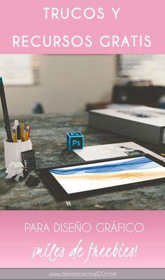 Trucos para organizarte a la hora de diseñar y miles de recursos gráficos para descargar. #freebies #iconos #patterns #tipografias