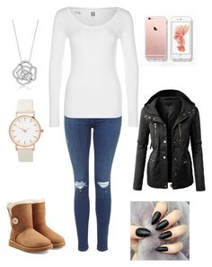 """Untitled #396"" by fercakova-viktoria ❤ liked on Polyvore featuring G-Star, UGG Australia, LE3NO and BERRICLE"