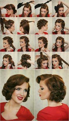 Die 71 Besten Bilder Von 50er Frisuren Hair Makeup Hairstyle