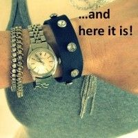 DIY Leather and Rhinestone Bracelet Tutorial