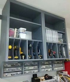 Tool storage.