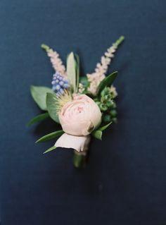 gorgeous wedding boutonniere; photo: Carmen Santorelli