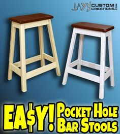 Have you ever wanted to make a bar stool? Maybe for your home or shop. This is an extremely easy DIY bar stool that anyone can make. You can probably batch out a set of 4 of these in a few hours. T...