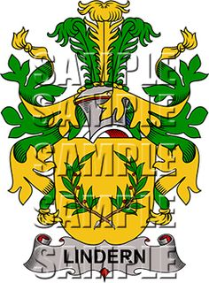 Lindern Family Crest apparel, Lindern Coat of Arms gifts