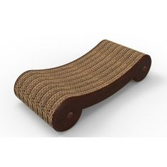 Introducing the Cat Scratcher Board. This solid wood veneer reversible scratching bed has a corrugated cardboard pad. This bed encourages positive scratching behavior and is reversable to withstand your cats nails for twice as long as comparable pads, so
