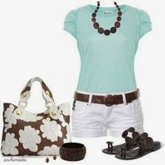 """cute & casual but replace """"Daisy Dukes"""" for walking shorts"""