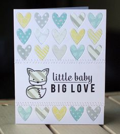 to the full: A trio of baby cards