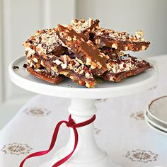 Pecan Toffee Recipes | The tender-crisp texture of this rich toffee will quickly make it your holiday guilty pleasure.