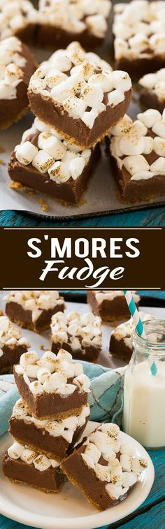 S'mores fudge with a