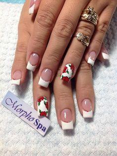 Rosas con blanco