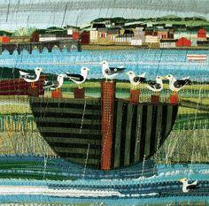 """Green Pebble: """"gulls"""" by Rachel Sumner"""