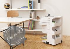 Rolling work space organizer / I like this