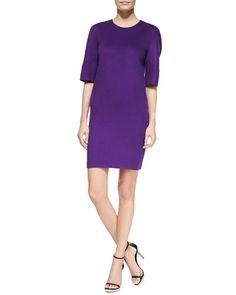 Double-Face Shift Dress, Grape