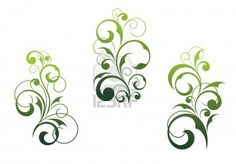 Ensemble de motifs isol?s sur fond blanc et de beaux ?l?ments floraux Banque d'images - 9454071