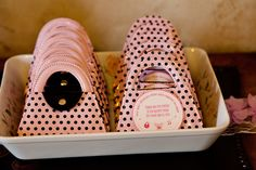 Favors at a Baby girl shower #babyshower #pinkfavors
