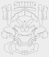 Iron Man Mark 42 Costume Helmet DIY - Cardboard build with template