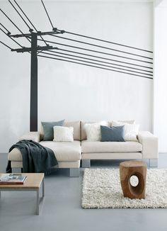 ferm LIVING - WallStickers - 2010-01 Power Pole black