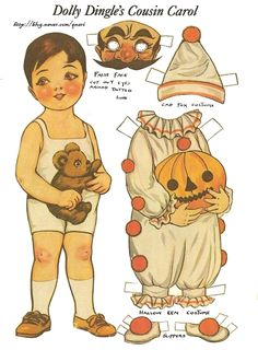 DOLLY DINGLE'S COUSIN CAROL     종이인형 (dolly) : 네이버 블로그