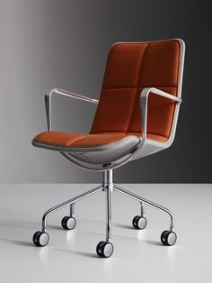 Kite – conference chair by Broberg & Ridderstråle. For Swedese Celebrating seventy years of design 1945–2015 A delicate look and ingenious construction: a mesh fitted over a steel frame. This is the conference chair for warm days and long meetings – its airy construction will breathe and let you stay cool.