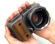 rhubarbes: Contineo Cage. machined metal wood camera