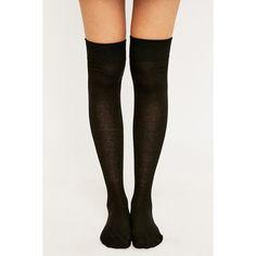 Over-the-Knee Black Socks ($8.88) ❤ liked on Polyvore featuring intimates, hosiery, socks, accessories, socks/tights, black, over the knee knit socks, overknee socks, over-the-knee socks and black hosiery
