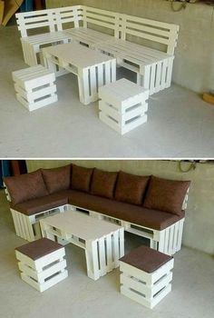 Wooden Pallet Projects The best of wood pallets projects on one board: easy DIY ideas, Furniture, Home décor, outdoor