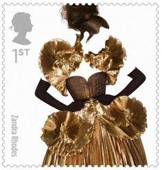Royal Mail Great British Fashion Stamps  Zandra Rhodes