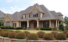 Elevation of European   Southern   Traditional   House Plan 50254