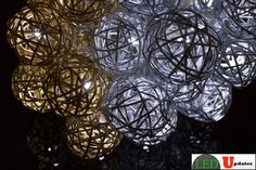 15ft Vine Ball Shape Gold and Silver color Decoration LED