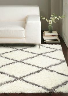 Rugs USA Moroccan Diamond Shag Grey Rug - still really want this rug!!!! One day I'm just going to order it. In the meantime I'm on the lookout