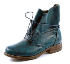 Heavenly Feet Pippa Ocean Blue Lace Up Anti-Fatigue Ankle Boots  Buy online at www.schoose.co.uk