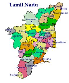 Tamil Nadu District Map Tamilnadu District Map | Places to Visit | Map, City maps, India map Tamil Nadu District Map