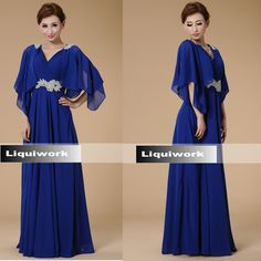 Navy Blue Roaring 20 Style Mother of the Bride Evening Dress Gown SKU-1040244