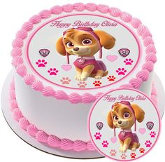 PAW PATROL SKYE 2 Edible Birthday Cake OR Cupcake Topper – Edible Prints On Cake (EPOC)