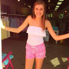 Pink Bee | Lilly Pulitzer | Summer 2014 | Greenville, South Carolina | Buttercup Shorts