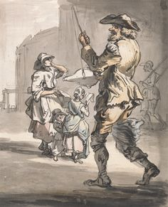 Paul Sandby - London Cries- Fun upon Fun - Satirical Cartoons, Google Art Project, Figure Sketching, Classic Paintings, Vintage Artwork, Portrait Art, Portraits, Art Google, 18th Century