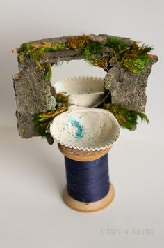 Fairy house bathroom vanity - diy ideas