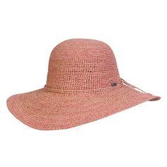 2252e4060a837 Braided Raffia Sun Hat with Metallic Chiffon Bow - Santa Rosa Cappelli in  2019